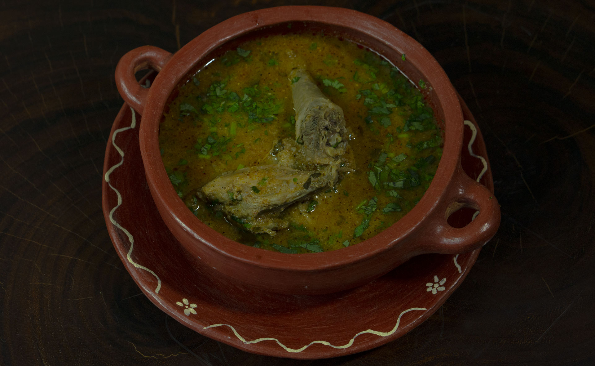 Sopa de gallina india